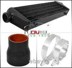 For 96-00 Civic Ek Turbo Intercooler Bolt On Black Piping Kit Set Black Couplers