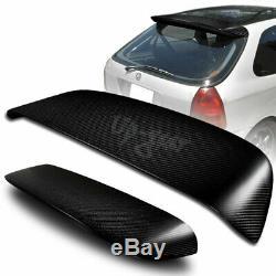 For 96-00 Honda Civic 3DR Hatchback Carbon Fiber Spoon Rear Roof Window Spoiler