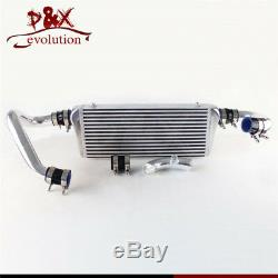For Audi A4 1.8T B5 98-01 FMIC Upgrade Bolt On Front Mount Intercooler Kit Black