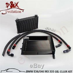 For BMW 3 SERIES 335I E90 E92 N54 25 Row Upgrade Bolt on Oil Cooler kit black