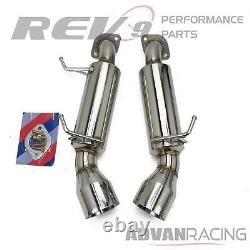 For G37 Coupe 09-13 Stainless Steel Exhaust Axle Back Kit Bolt On Performance