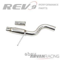 For GTI MK7.5 18-20 2.0T Muffler ByPass Exhaust Kit Stainless Steel Bolt On R