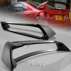 For Honda Civic Sedan DX EX LX Mug RR-Style ABS Black Rear Trunk Spoiler Wing