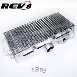 For Impreza WRX/STI 02-07 Bolt-On UpgradeTop Mount Turbo Intercooler Kit +Y Pipe