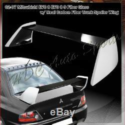 For Mitsubishi Lancer EVO 8 9 ES LS DE Real Carbon Fiber Rear Trunk Spoiler Wing