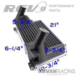 For Mustang EcoBoost 15-20 Front Mount Intercooler Upgrade Kit Bolt On FMIC