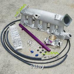 For Nissan R32 R33 R34 RB25Det Intake Manifold+11mm Fuel Rail+80mm Throttle Body
