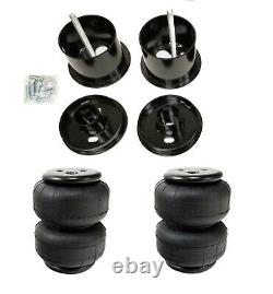 Front Air Ride Suspension Kit Airlift D2500 Airbags Mounting Cups For 61-62 Cadi