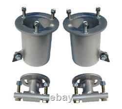 Front Air Suspension Bolt On Brackets 2600 Bags Air Ride For 2007-18 Chevy 1500