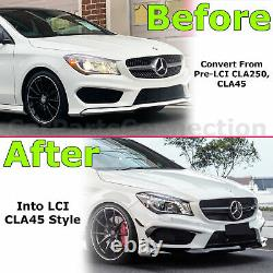 Front Bumper Cover Assembly CLA45 Style For Mercedes C117 CLA-Class 2014-2016