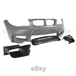 Front Bumper Cover Kit 1M Style For BMW 1 Series 08-13 E82 E88 128 135 Air Ducts