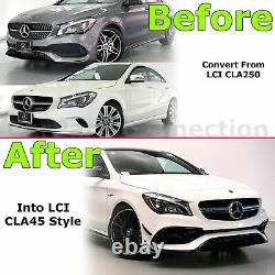 Front Bumper Cover LCI CLA45 Style For Mercedes Benz CLA250 2017-2019 With PDC