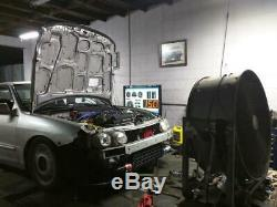 GT3076 Top Mount Turbo Kit Chrome Piping Blue Coupler RS Bov for DC2 B18B B20B