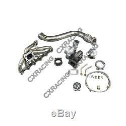 Gt35 Turbo Downpipe Kit Bolt On For 84 91 Bmw 3 Series E30 325