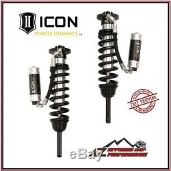 ICON 2.5 Standard Travel RR CDCV Front Coilover Shock Kit For 05-15 Tacoma