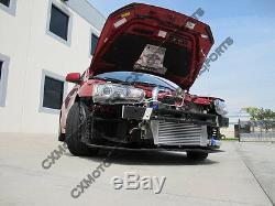 Intercooler Kit + BOV For 07 + Mitsubishi Lancer Evolution EVO X Black Bolt On
