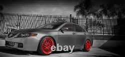 Intercooler + Piping Kit for 04-08 Acura TSX K24 Motor Black Hose + BOV Bolt on
