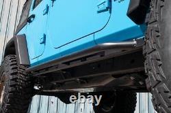 JCR Offroad GEN2 Classic Bolt On Rock Sliders Bare For 07-18 Jeep JKU 4 Door
