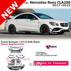 LCI CLA45 Style Front Bumper Conversion Kit For 17-19 Mercedes CLA250