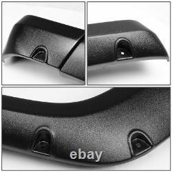Matte Pocket-riveted Bolt-on Wheel Cover Fender Flares Kit For 07-14 Fj Cruiser