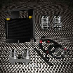Oil Cooler Kit Upgrade For Bmw 3 Series 335i E92 N54 25 Row Bolt On Black