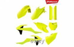 Polisport Flo Yellow Plastic Kit For KTM SX SXF XC XC-F 16-18 90740