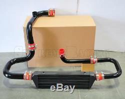 RDT Black Intercooler Piping SSQV Flange Red Coupler kit for 1994-2001 Integra