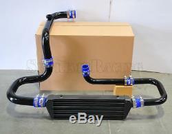 RDT Black Intercooler Piping S/RS Flange Blue Coupler kit for 1994-2001 Integra