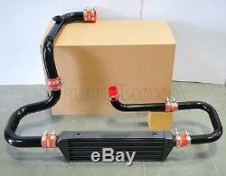 RDT Black Intercooler Piping S/RS Flange Red Coupler kit for 1994-2001 Integra