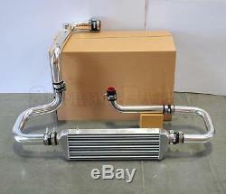 RDT Chrome Intercooler Piping SQV Flange Black Coupler kit for 1994-2001 Integra