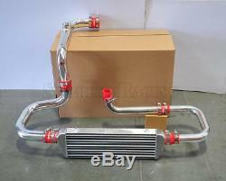 RDT Chrome Intercooler Piping SSQV Flange Red Coupler kit for 1994-2001 Integra