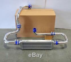 RDT Chrome Intercooler Piping S/RS Flange Blue Coupler kit for 1994-2001 Integra