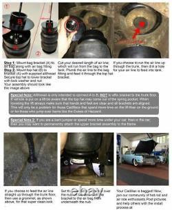Rear Air Ride Suspension Kit airmaxxx 2600 Air Bags Mount Cup For 65-70 Cadillac