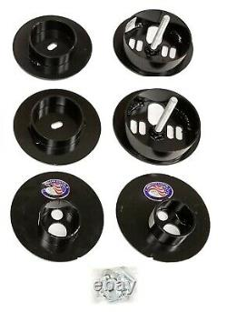 Rear Air Ride Suspension Kit withD2500 Air Bags & Mounting Cups For 65-70 Cadillac