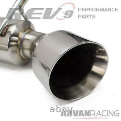 Rev9 Stainless Steel Axle-Back Exhaust Kit Bolt-On for Q60 Q60S 14-16