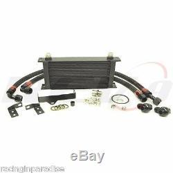 Rev9 Upgrade 19 Row Engine Oil Cooler Kit For 06 07 Wrx Sti Ej20 Ej25 Bolt On