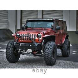 Rigid Industries E-Series Brow Light Bar Mount Kit For 07-18 Jeep Wrangler JK
