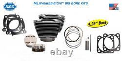 S&S for M8 Bolt on Big Bore Kit, 107 to 124 910-0625 MILWAUKEE-EIGHT