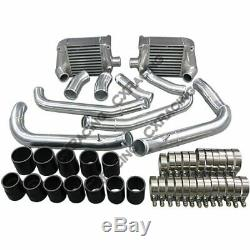 Side Mount Intercooler + Piping kit Bolt On Fit For 90-96 Nissan 300ZX