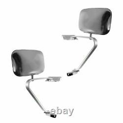 Side View Manual Mirrors Stainless Steel Pair Set for Ford F-Series Pickup Truck