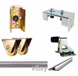 Siliding Gate Kit for gates between 1.5 and 5m with Latch Wheels Track Stop Keep