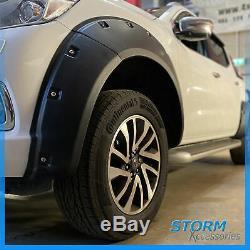 Stx Wheel Arch Kit Bolt On Look Black For Nissan Navara Np300 2016+ Dcab