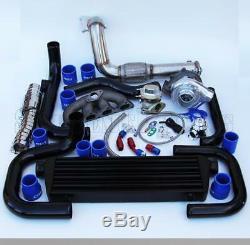 T3/T4 Ball Bearing Turbo Intercooler Bolt-On Kit for 92-00 Civic D-Series 006-BL