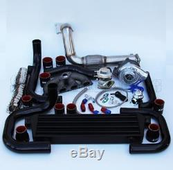 T3/T4 Ball Bearing Turbo Intercooler Bolt-On Kit for 92-00 Civic D-Series 006-BR