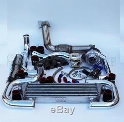 T3/T4 Ball Bearing Turbo Intercooler Bolt-On Kit for 92-00 Civic D-Series 007-BR