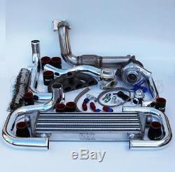 T3/T4 Ball Bearing Turbo Intercooler Bolt-On Kit for 92-00 Civic D-Series 008-BR
