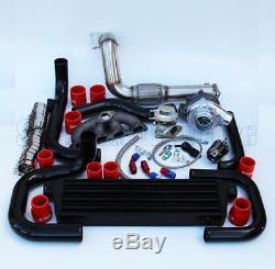 T3/T4 Ball Bearing Turbo Intercooler Bolt-On Kit for 94-01 Integra B16/18 001-RD