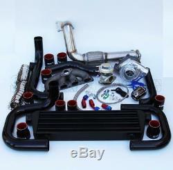 T3/T4 Ball Bearing Turbo Intercooler Bolt-On Kit for Honda EG EK D15/16 005-BR
