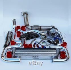 T3/T4 Ball Bearing Turbo Intercooler Bolt-On Kit for Honda EG EK D15/16 007-RD