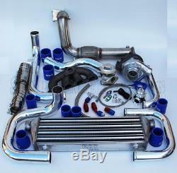 T3/T4 Ball Bearing Turbo Intercooler Bolt-On Kit for Honda EG EK D15/16 008-BL